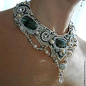 Украшения handmade. Livemaster - original item Set: necklace and earrings Serafina. Handmade.