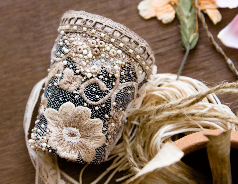 Текстильный браслет-манжета
