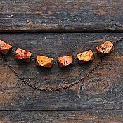 """Украшения ручной работы. Ярмарка Мастеров - ручная работа Колье и серьги из камней """"Кленовый Сироп"""". Handmade."""