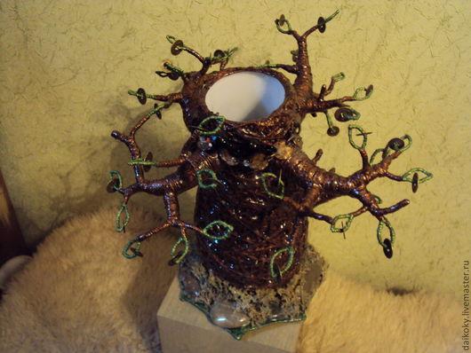 """Вазы ручной работы. Ярмарка Мастеров - ручная работа. Купить Ваза """"Денежное дерево с котом ученым..."""". Handmade. Ваза"""