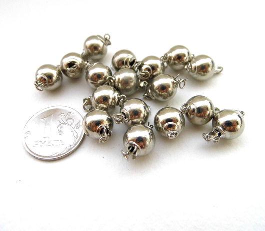Для украшений ручной работы. Ярмарка Мастеров - ручная работа. Купить Замочек для украшений круглый, серебряный цвет. Handmade.