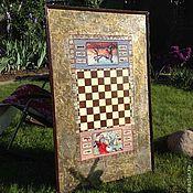 Для дома и интерьера ручной работы. Ярмарка Мастеров - ручная работа Доска для шахмат. Handmade.