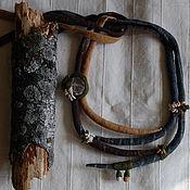 """Украшения ручной работы. Ярмарка Мастеров - ручная работа """"Дождь- море"""" текстильное колье. Handmade."""