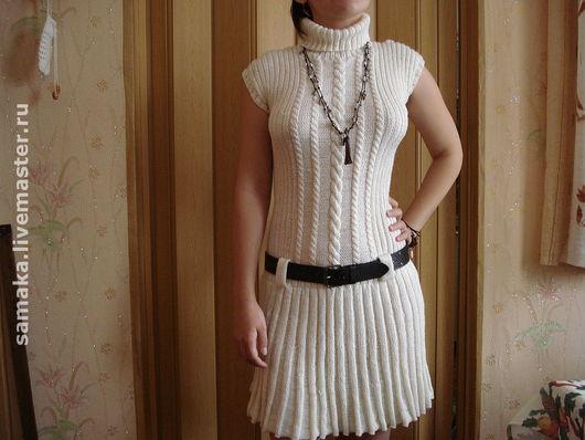 """Платья ручной работы. Ярмарка Мастеров - ручная работа. Купить Платье  """"Нежность"""". Handmade. Шерсть, платье, Пряжа полушерсть"""