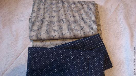 """Шитье ручной работы. Ярмарка Мастеров - ручная работа. Купить набор ткани  """"мелкий рисунок"""". Handmade. Тёмно-синий"""
