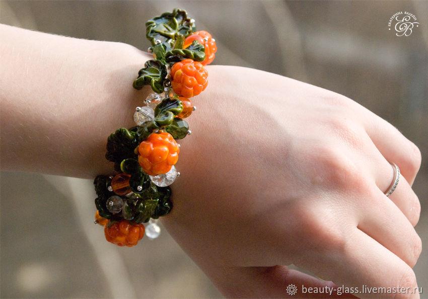 'Cloudberry': bracelet with lampwork berries, Bead bracelet, St. Petersburg,  Фото №1