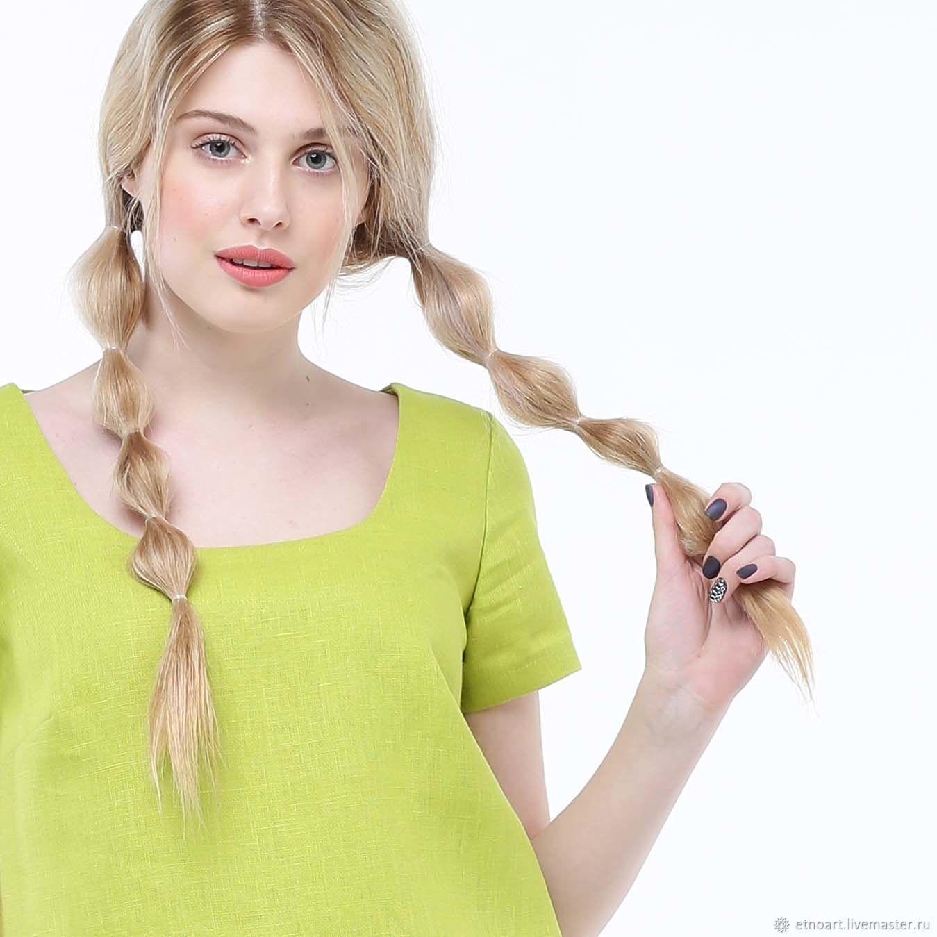Basic blouse made of 100% linen, Blouses, Tomsk,  Фото №1