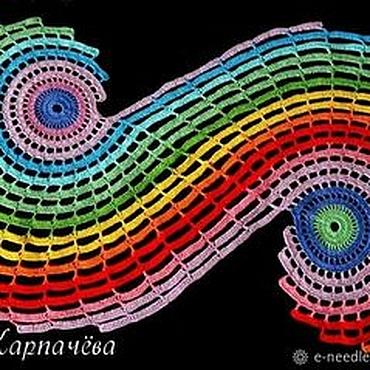 Для дома и интерьера ручной работы. Ярмарка Мастеров - ручная работа Радужная спиральная салфетка. Handmade.
