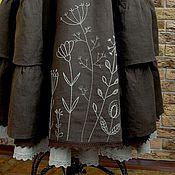 Одежда ручной работы. Ярмарка Мастеров - ручная работа Юбка Бохо льняная длинная с ручной вышивкой. Handmade.