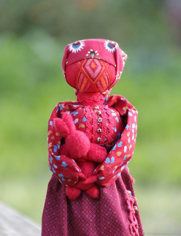 Кукла Пасхальная  с заинькой, Народная кукла, Людиново,  Фото №1