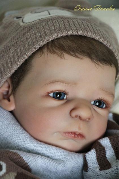 Куклы-младенцы и reborn ручной работы. Ярмарка Мастеров - ручная работа. Купить Егор. Handmade. Коричневый, мохер