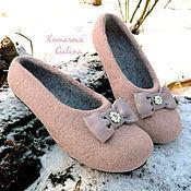 Обувь ручной работы handmade. Livemaster - original item women`s felted Slippers Bella felted Slippers-shoes. Handmade.