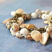 Украшения handmade. Livemaster - original item Women`s coffee hand bracelet made of natural stones. Handmade.