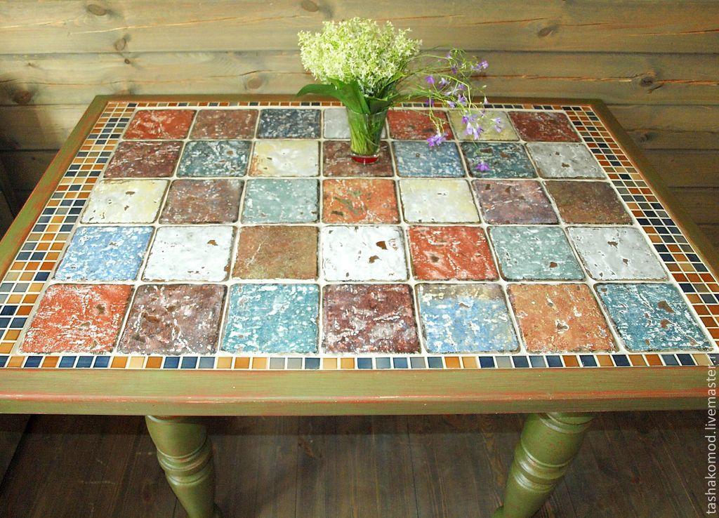 Плитка на кухонный стол своими руками 86