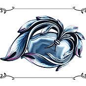 Украшения ручной работы. Ярмарка Мастеров - ручная работа Брошь с Голубым Агатом. Handmade.