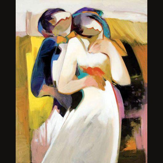 Абстракция ручной работы. Ярмарка Мастеров - ручная работа. Купить Танец любви - картина маслом ручной работы на холсте. Handmade.