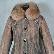 """Одежда ручной работы. Ярмарка Мастеров - ручная работа валяное пальто зимнее """"Утро седое, утро туманное"""". Handmade."""
