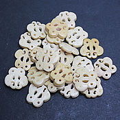Материалы для творчества handmade. Livemaster - original item Beads Carved Buffalo Bone Butterfly 18h17mm. Handmade.