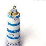 Куклы и игрушки ручной работы. Ярмарка Мастеров - ручная работа Маяк синий кукольная миниатюра подвеска. Handmade.