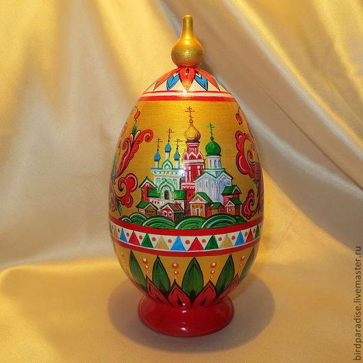 пасхальное яйцо шкатулка расписное деревянное.Пасхальный сувенир. Подарок на Пасху.