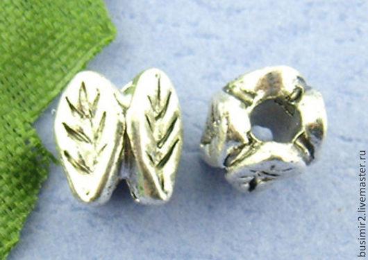 Бусина-разделитель, цвет - серебро. Фурнитура для создания украшений. Busimir