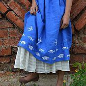 """Одежда ручной работы. Ярмарка Мастеров - ручная работа Юбка """"Девочка и море"""". Handmade."""