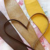 Аксессуары ручной работы. Ярмарка Мастеров - ручная работа Пояс кушак коричневый, желтый, 3 вида. Handmade.