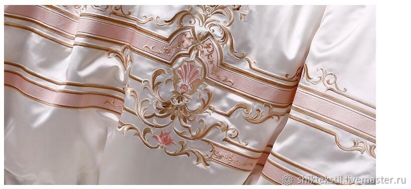 Подарок на свадьбу. Постельное белье из египетского хлопка с вышивкой, Подарки, Самара,  Фото №1