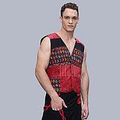 Одежда ручной работы. Ярмарка Мастеров - ручная работа Яркий лоскутный мужской жилет. Handmade.