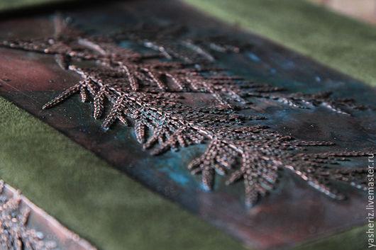Аксессуары для фотосессий ручной работы. Ярмарка Мастеров - ручная работа. Купить Фотоальбом. Handmade. Тёмно-зелёный, патина, подарок, туя