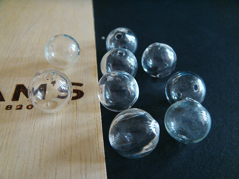 Lampwork transparent empty beads inside 13mm, Beads1, Bryansk,  Фото №1