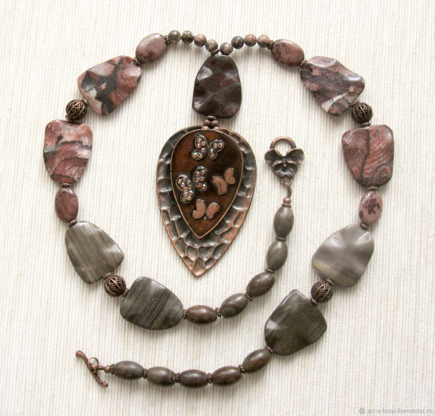 Beads 'Timna' large vintage pendant, Necklace, Moscow,  Фото №1