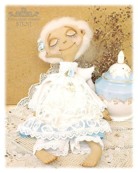 Коллекционные куклы ручной работы. Ярмарка Мастеров - ручная работа. Купить Мечтающий Ангел. Авторская текстильная кукла. Handmade. Ангел