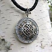 """Украшения handmade. Livemaster - original item Односторонний Кулон / Оберег """"Духовная сила"""" из серебра 925. Handmade."""