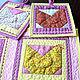 Кухня ручной работы. Набор лоскутных  салфеток для кухни Курочки, пэчворк. Лоскутные радости (zilber-quilt). Интернет-магазин Ярмарка Мастеров.