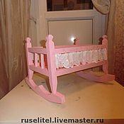 Куклы и игрушки ручной работы. Ярмарка Мастеров - ручная работа Кроватка для кукол. Handmade.