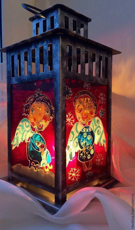 Элементы интерьера ручной работы. Ярмарка Мастеров - ручная работа. Купить Ангелочки. Handmade. Комбинированный, Роспись по стеклу