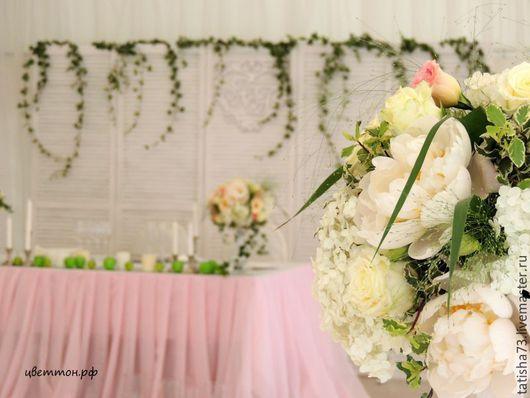 Свадебные цветы ручной работы. Ярмарка Мастеров - ручная работа. Купить Яблочная свадьба в Коломенском. Handmade. Бледно-розовый