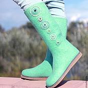 """Обувь ручной работы. Ярмарка Мастеров - ручная работа Валенки """"Мятные леденцы"""". Handmade."""
