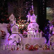 Подарки к праздникам ручной работы. Ярмарка Мастеров - ручная работа Рождественское оформление окна. Handmade.