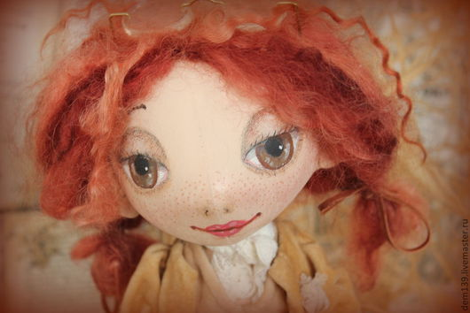 Коллекционные куклы ручной работы. Ярмарка Мастеров - ручная работа. Купить Осень... Кукла из грунтованного текстиля. Handmade. Бежевый, картон