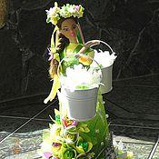 """Подарки к праздникам ручной работы. Ярмарка Мастеров - ручная работа Букет из конфет  """"Весна идет"""". Handmade."""