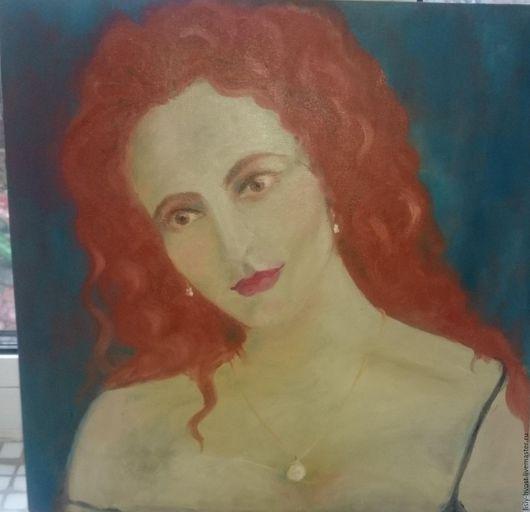 """Люди, ручной работы. Ярмарка Мастеров - ручная работа. Купить Картина """"Рыжая русалка"""". Handmade. Рыжий, девушка, лиса, романтика"""