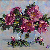 Pictures handmade. Livemaster - original item Oil painting flowers rose, order a painting with the colors of cheap. Handmade.