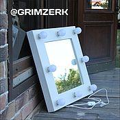 Для дома и интерьера ручной работы. Ярмарка Мастеров - ручная работа Гримёрное зеркало или зеркало Визажиста. Handmade.