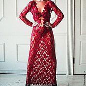 Одежда ручной работы. Ярмарка Мастеров - ручная работа Платье из гипюра.. Handmade.