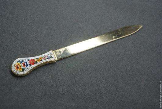 Винтажные предметы интерьера. Ярмарка Мастеров - ручная работа. Купить Нож для бумаги микромозаика. Handmade. Комбинированный, украшение, бумага