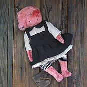 Куклы и игрушки ручной работы. Ярмарка Мастеров - ручная работа Тихиро,  розовая... мишка тедди. Handmade.