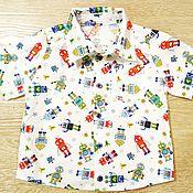 """Работы для детей, ручной работы. Ярмарка Мастеров - ручная работа Рубашка для мальчика """"Роботы"""". Handmade."""