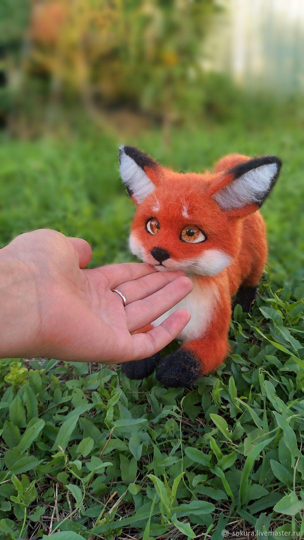 Рыжая лисичка, Войлочная игрушка, Ростов-на-Дону,  Фото №1